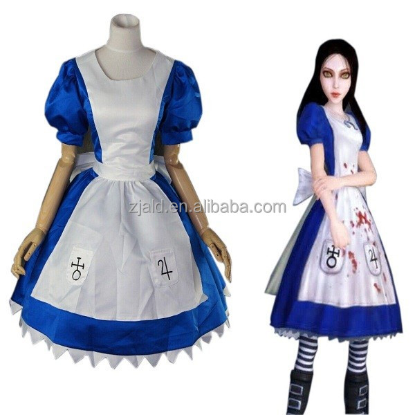 Madness return cosplay maid fancy uniform alice costume