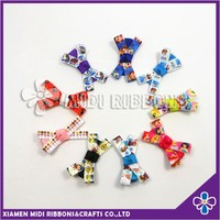 Fashion Custom print Hair clip Ribbon hairpins for Kids