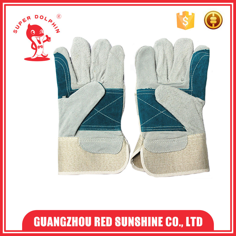 Cheap Cowhide Leather Safety Gloves With EN 388