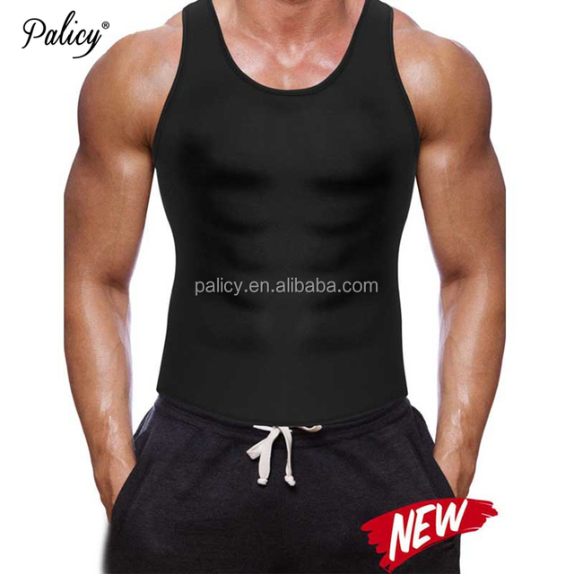Palicy Wholesale OEM service MENS SLIMMING BODY SHAPER NEOPRENE WEIGHT LOSS VEST SWEAT SUIT SAUNA SHIRT mens neoprene body vest