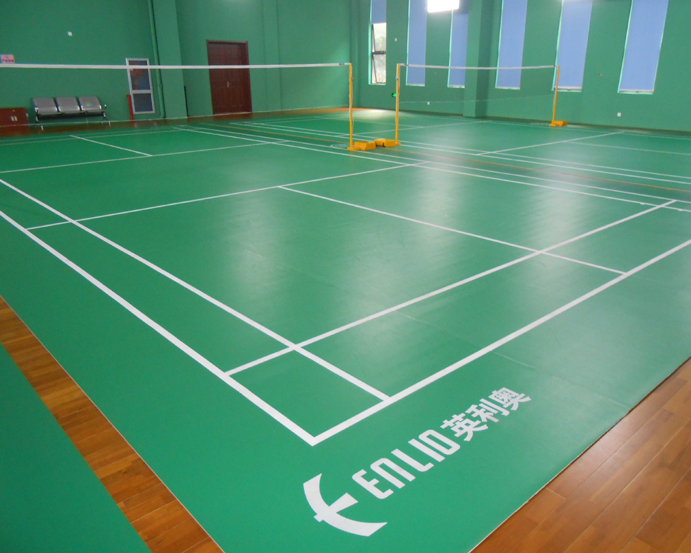 Enlio Bwf Approved Vinyl Badminton Flooring View Indoor