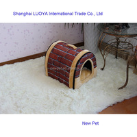 Premium quality bottom price arch foldable brick house dog house cage price