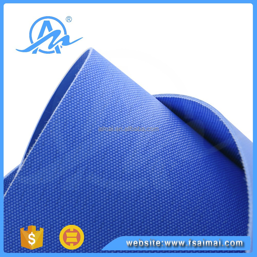 Guangdong Heat resistant white and blue pvc/pu turning machine conveyor belt