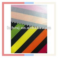 Patterned fabric with printed polyester stripe fabric