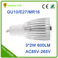 hot selling new products 2016 energy saving led light,85-265v aluminum led downlights,gu10 led spotlights 6w with ce rohs
