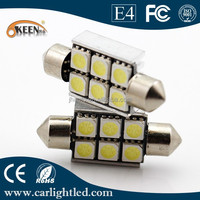 Canbus error free 12V 5050 chips car led light H6SMD festoon auto led for car