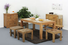 ZS-1 Antique Chinese style natural reclaimed solid wood Dining Table set