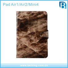 Tablet Leather Case with 2 card holder for iPad Mini 4 , For iPad Air 2 Marble Leather Case