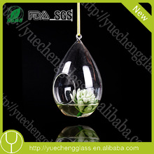 different types glass vase with hole for centerpiece