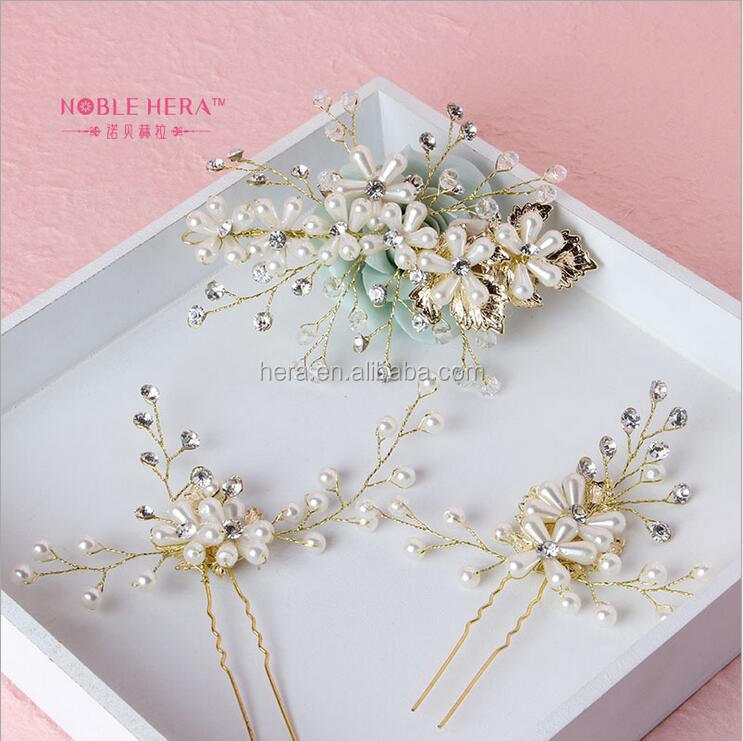 High Quality Hair Jewelry Wedding Decorative Hair Comb for Bridal 102TZ