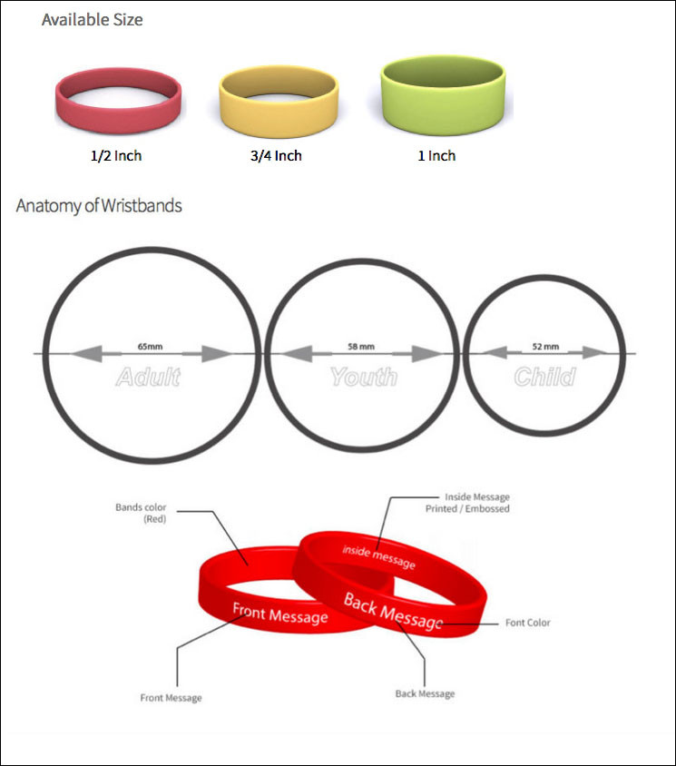 China wholesale 2017 mens bracelet rubber band