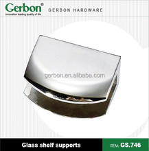 hot saled chrome plated metal glass shelf support