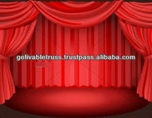 red color stage curtain for children theater show