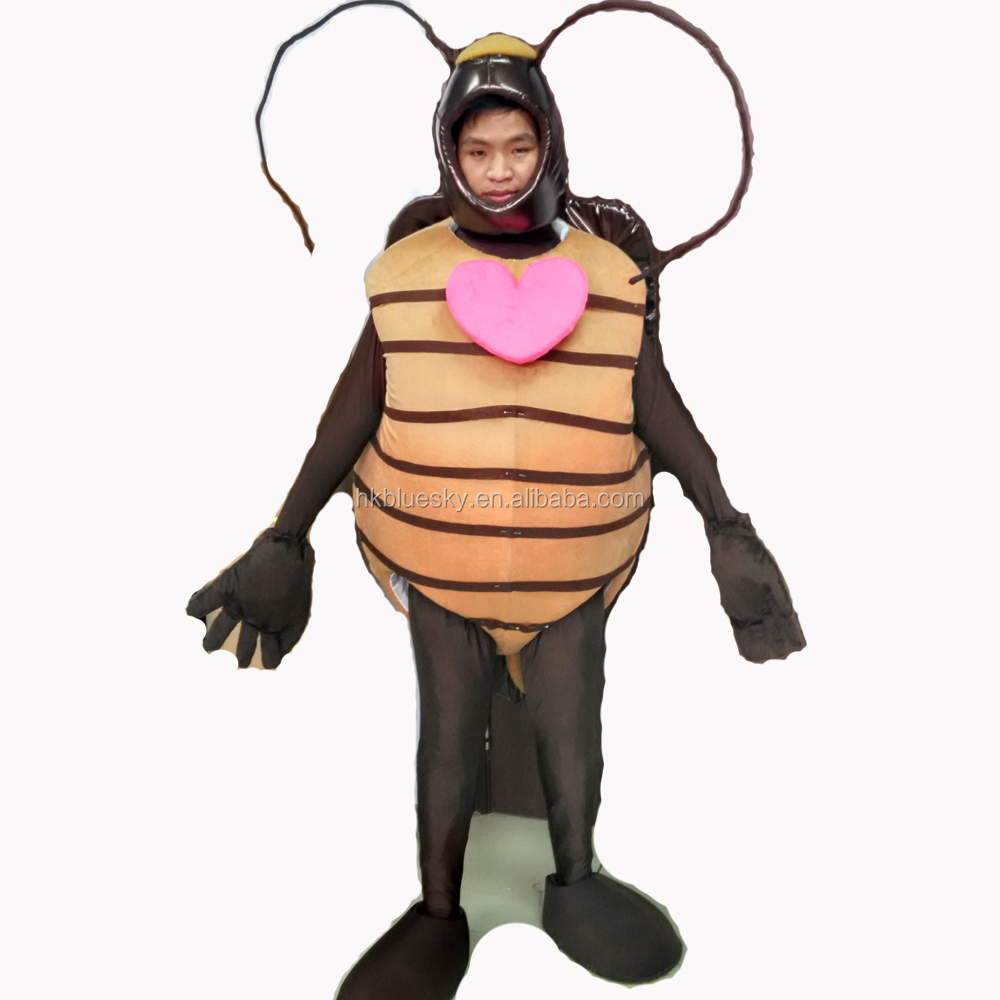 2017 custom cosplay cockroach mascot costume for sale