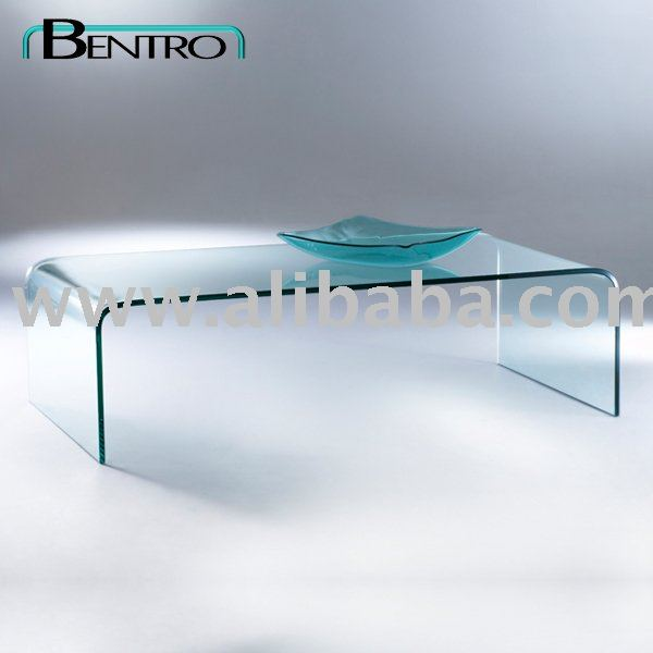 Verre pli table basse m127 table basse id de produit 108952418 for Grande table de salon en verre