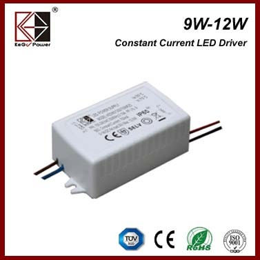12W waterproof constant current led driver ip65 for wall lamp, mirror light, garden light