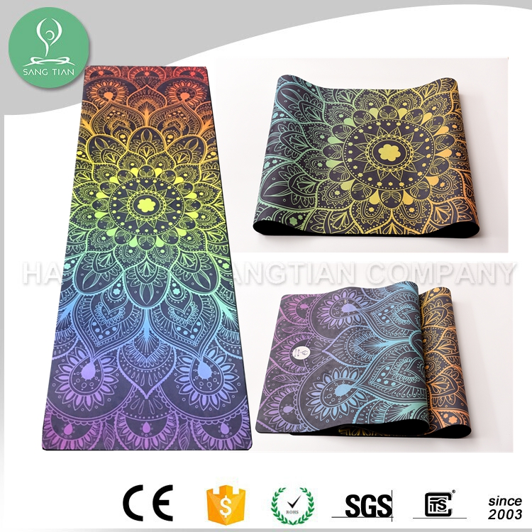 Pilate yoga type rubber heat resistant yoga mat cork mats