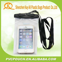 China Professional factory promotional waterproof cell phone bag, mobile phone pvc water resist cases