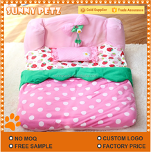 Strawberry Dog Bed Soft Cushion Pet Beds For Cats Dogs