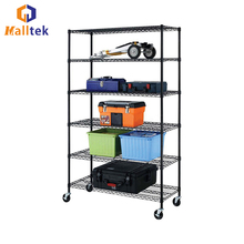 NSF Heavy Duty Chrome Wire Rack Shelving With Wheels