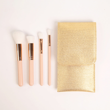 Free sample professional portable 4pcs gift makeup brush with bag