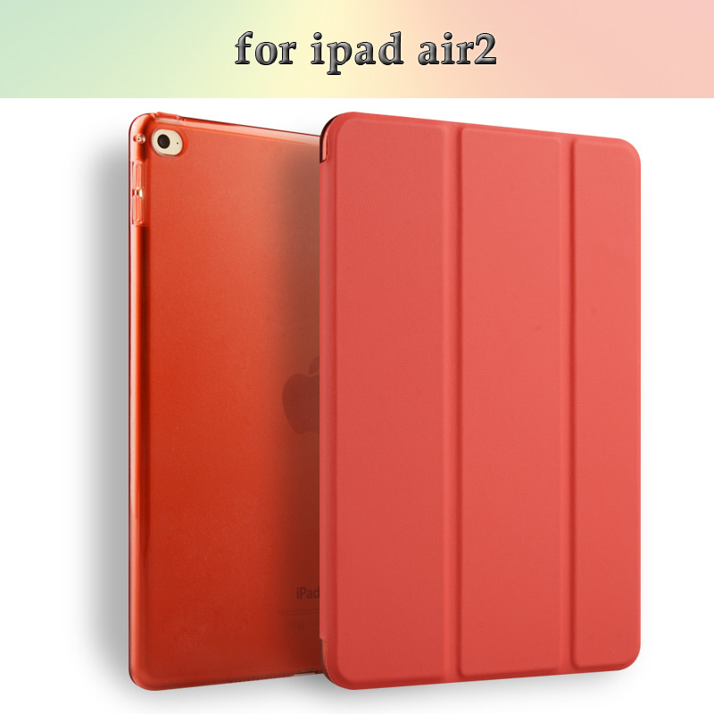 For iPad 6 PU Leather Printing Case, Leather Tablet Case with sleep/wake For Apple iPad 6/Air 2 Case