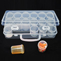 Large Water Proof Fish Oil Vitamin Capsule Pill Organizer Pill Storage Case Pill Box With 18 Plastic Pill Bottles