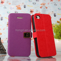 Hot For iphone 4 4g 4s Luxury Flip Oracle lines PU Leather Case Cover Shell Wallet Book Style with Card Holder