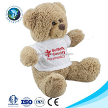Cheap wholesale plush toy sublimation teddy bear t shirt promotional custom logo stuffed soft toy plush personalized teddy bear