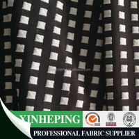 black and white plaid jacquard knitting fabric/yarn dyed jacquard fabric