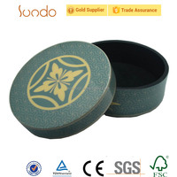 Hotsale round handcraft wooden packaging cases