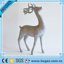 resin animal figure, christmas silver reindeer statue decoration