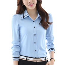 newly style cross contrast for Woman blouse
