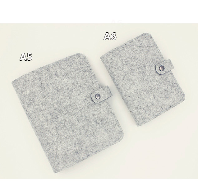 Simple felt binder notebook standard 6 Hole shell bandage hand accounts A5A67 record <strong>book</strong>
