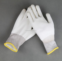 27g insulated mechanics gloves NYLON PU COATED GRIP SAFETY WORK GLOVES / engineering mechanics dynamics