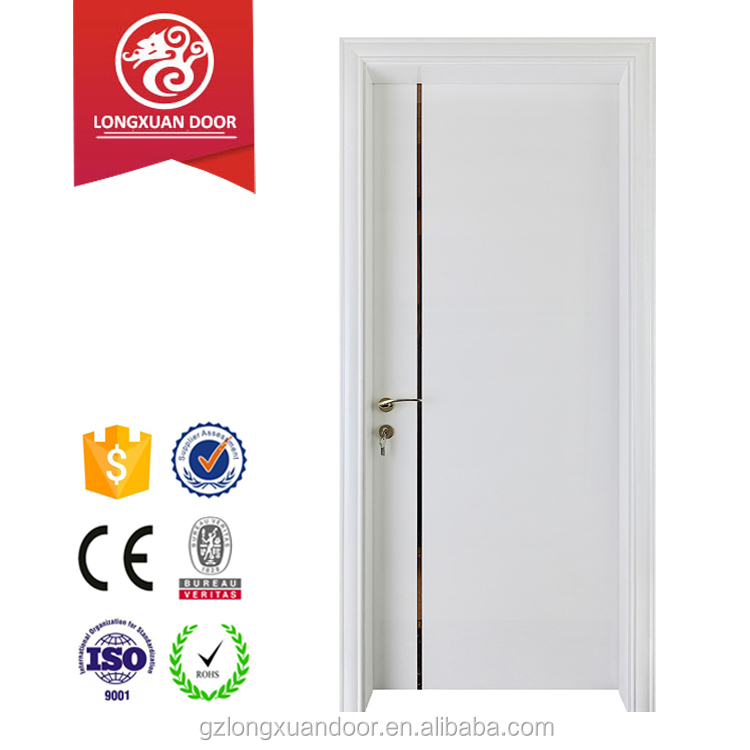 Buy from alibaba china factory main gate designs white lacquer finished interior room position 100% solid wood door