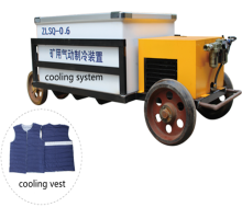 anti-high temperature roadway cooling vest for worker safety cooling system