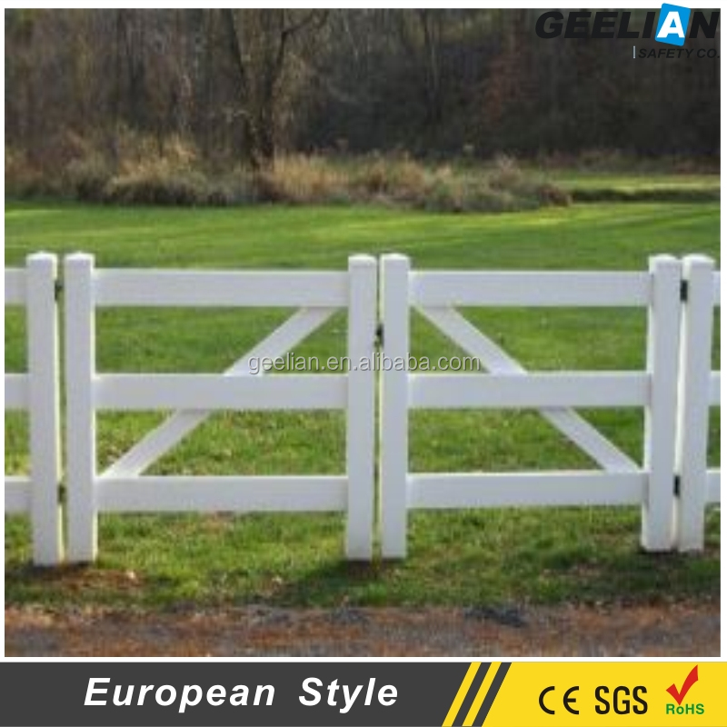 cheap professional Used Corral vinyl pvc farm fence gates For Sale export to Australia , New zealand , USA