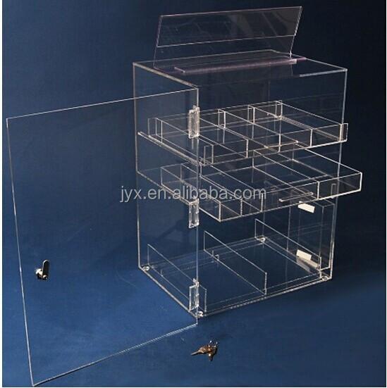 Clear Acrylic Nail Polish Display Case With Lock - Buy Nail Polish ...