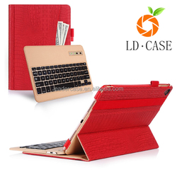 New hot selling wireless Keyboard with Bluetooth leather case for tablet