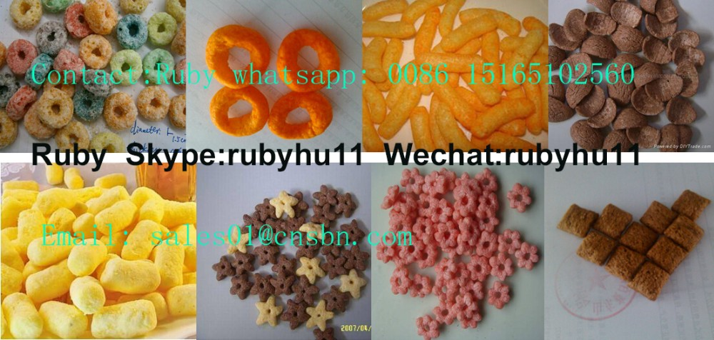 Industrial Puffed Corn Expanded Snacks Food Extrusion Making Machine