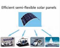 Semi flexible 100 Watt Solar Panel 18V High Efficiency Class-A Sun power Solar Cell 100W Mono crystalline Solar Panels