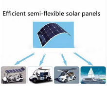 Semi flexible 100 Watt Solar Panel 18V High Efficiency Class-A Sun power Solar Cell 100W Mono crystalline Solar Panels