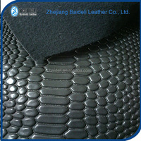 classical crocodile grain surface pattern design faux pvc pu leather