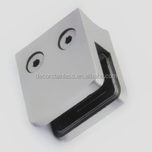 Stainles steel square glass clip for 48.3mm tube
