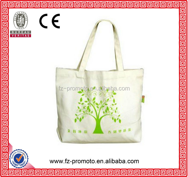 recycling natural unbleached cotton drawstring bag