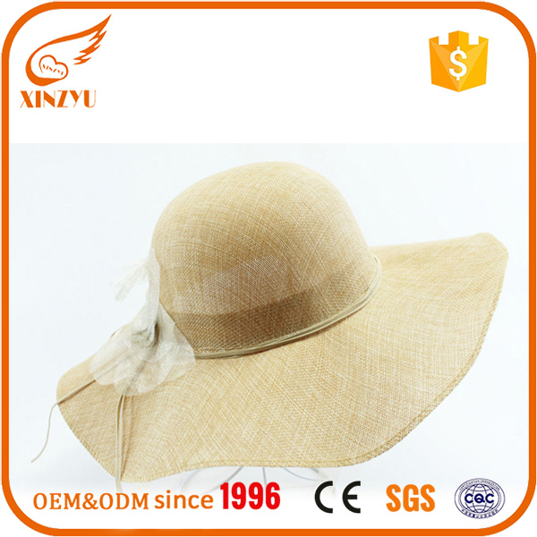 Guangdong beach raffia fedora wide brim peru sun straw hats for women