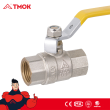 Control level handle female BSP/NPT thread brass gas ball valve in high quality