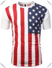 2014 most Popular American Flag T Shirt , printing flag Graphic Tees for Men & Women hot sale produced in China