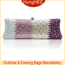 Luxury Wedding Party Rhinestone Clutch Bag Crystal Evening Purses